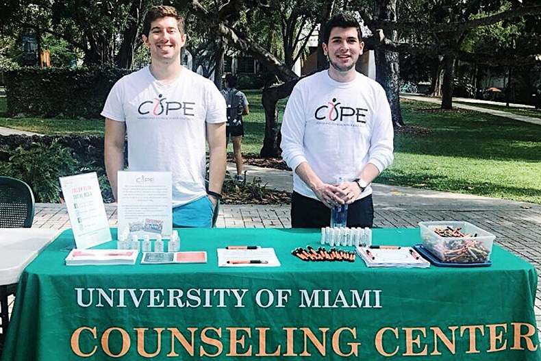 Counseling center offers a peer counseling program known as COPE