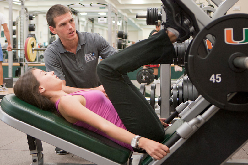 students can get one on one personal training or group training at the wellness center